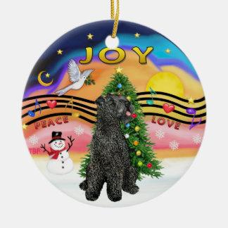 Xmas Music  - Kerry Blue Terrier Christmas Ornament