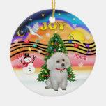 Xmas Music  - White Miniature/Toy Poodle