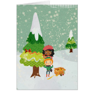Xmas Notcard Stationery Note Card