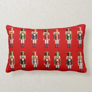 Xmas Nutcrackers Lumbar Cushion