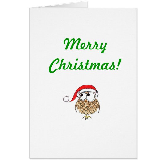 xmas-owl, Merry Christmas! Card