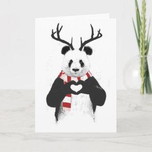 Xmas panda holiday card