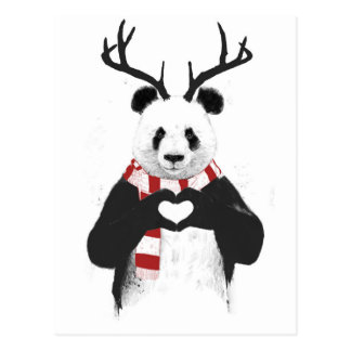 Xmas panda postcard