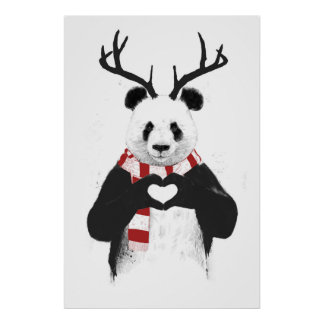 Xmas panda poster
