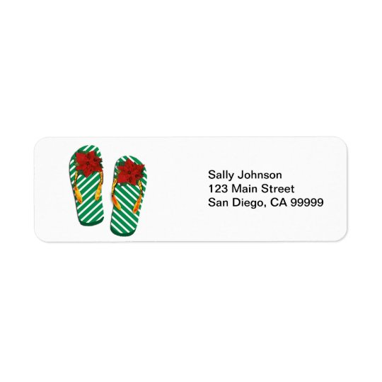 Xmas Party Flip Flops Return Address Label