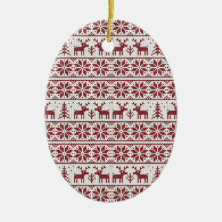 Xmas pattern christmas ornament