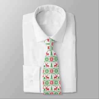 Xmas. patterned tie