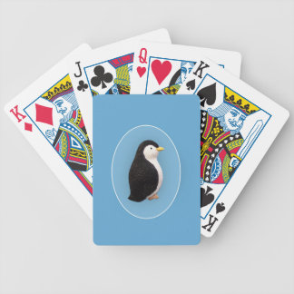 Xmas Penguin Bicycle Playing Cards
