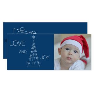 XMAS | photo and geometric christmas tree Card