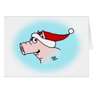 Xmas Pig Card
