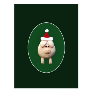 Xmas Pig Postcard