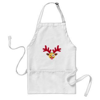 xmas reindeer wink emoji standard apron