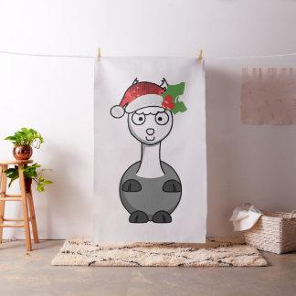 xmas santa claus alpaca christmas fabric