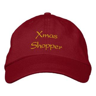 Xmas Shopper Cap / Hat Embroidered Baseball Cap