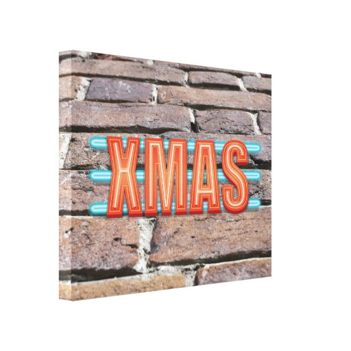 XMAS Sign Stretched Canvas Print