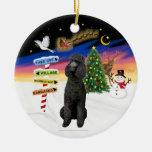 Xmas Signs - Black Standard Poodle Christmas Tree Ornament