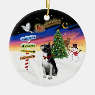Xmas Signs - Boston Terrier #3 Christmas Ornament