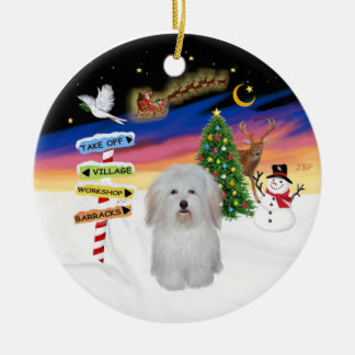 Xmas Signs - Coton de Tulear #3 Christmas Ornament
