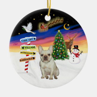 Xmas Signs - Fawn French Bulldog #1 Christmas Ornament