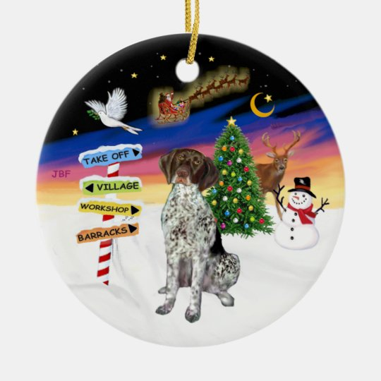 Xmas Signs - German Short Haired Pointer Christmas