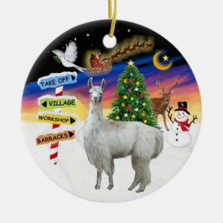 Xmas Signs - Llama 12 Christmas Ornament