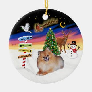 Xmas Signs - Pomeranian #4 Christmas Ornament