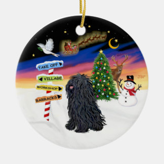 Xmas Signs - Puli Round Ceramic Decoration