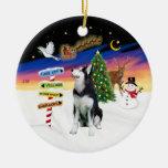 Xmas Signs - Siberian Husky #1 Christmas Tree Ornament