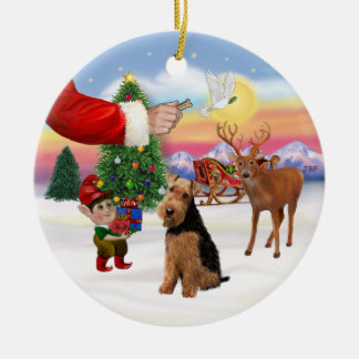 Xmas Signs - Welsh Terrier Christmas Ornament