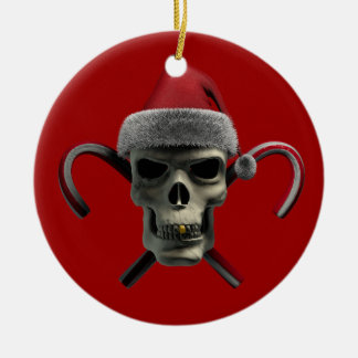 Xmas Skull Christmas Ornament