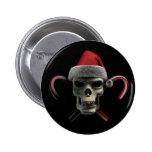 Xmas Skull Pinback Button