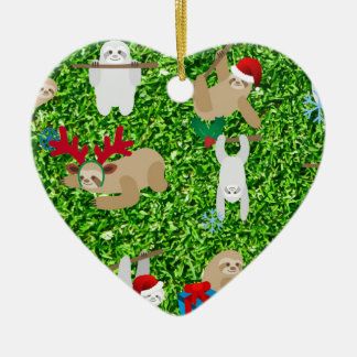 xmas sloth christmas ornament