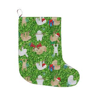 xmas sloth christmas stocking