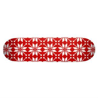 Xmas Snowflake Christmas Pattern Custom Skateboard