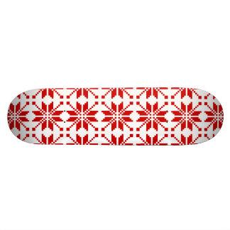 Xmas Snowflake Christmas Pattern Skateboard