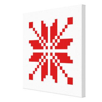 Xmas Snowflake Christmas Pattern Stretched Canvas Print