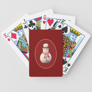 Xmas Snowman Bicycle Playing Cards