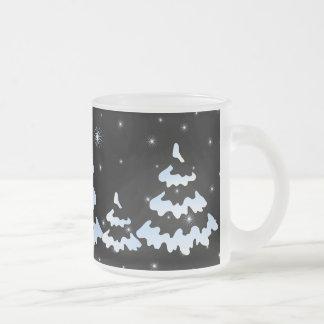 Xmas snowtrees mugs