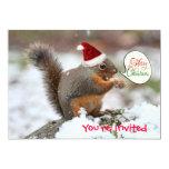 Xmas Squirrel in Snow Custom Invite