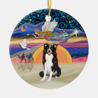 Xmas Star - Border Collie Christmas Ornament