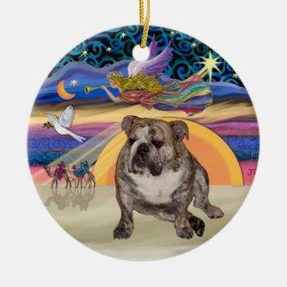 Xmas Star - English Bulldog 2 Christmas Ornament