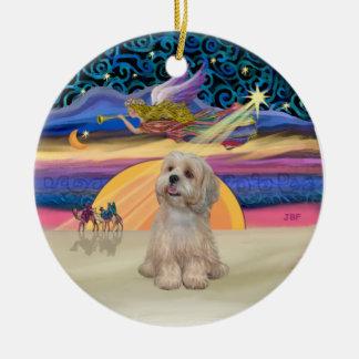 Xmas Star - Lhasa Apso (R2) Ornament