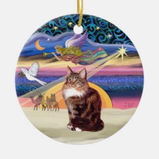 Xmas Star - Maine Coon cat 9 Christmas Ornament
