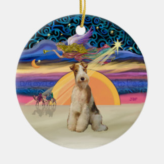 Xmas Star - Wire Fox Terrier #3 Christmas Ornament