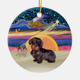 Xmas Star - Wire Haired Dachshund Christmas Tree Ornament