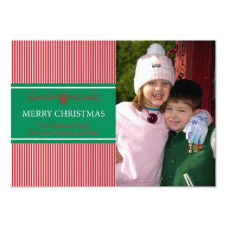 Xmas Stripes Christmas Card (Red / Green) Invites