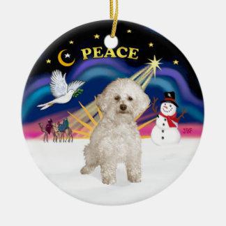 Xmas Sunrise - Bichon Frise 9 Christmas Ornament