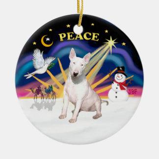 Xmas Sunrise - Bull Terrier Christmas Ornament