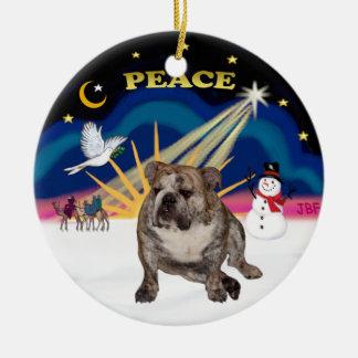 Xmas Sunrise - English Bulldog 2 Christmas Ornament
