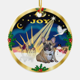 Xmas Sunrise - French Bulldog Puppy Christmas Ornament